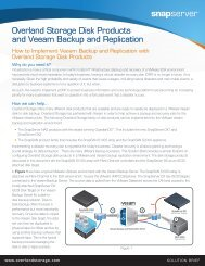 Overland Storage Disk Products and Veeam Backup and Replication
