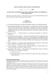 2012 on nuclear safety and radiological protection req