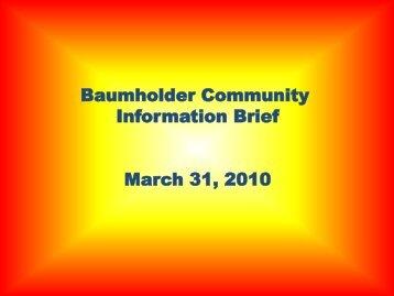 Baumholder Community Information Brief March 31, 2010