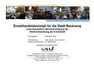 Einzelhandelskonzept für die Stadt Backnang - Stadtmarketing ...