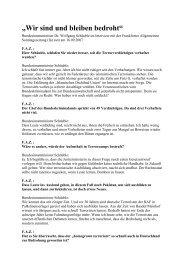 """""""Wir sind und bleiben bedroht"""" - Wolfgang Schäuble"""