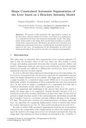 Shape Constrained Automatic Segmentation of the Liver based ... - ZIB