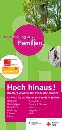Flyer Kletteraktionen 2011 - Wertebildung in Familien