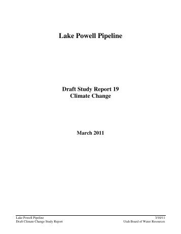 Draft Climate Change Report - Living Rivers Home Page