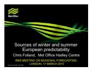 Sources of winter and summer European predictability