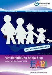 Familienbildung 2014 - Lebenshilfe NRW