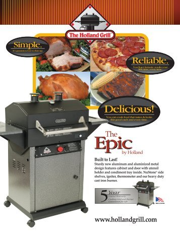 2008 Epic Spec Sheet (printer friendly) - The Holland Grill.