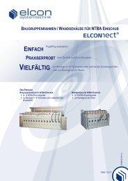 baugruppenrahmen /wandgehäuse für ntba ... - Elcon Systemtechnik