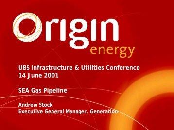 UBS Warburg Infrastructure & Utilities Conference - Origin Energy