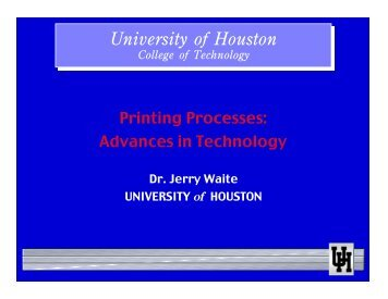Printing Processes - Graphic Communications Technology ...