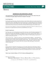 Regional Economic News: June 2010 Metropolitan Area Employment