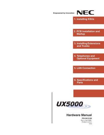 Hardware Manual - NEC UX5000