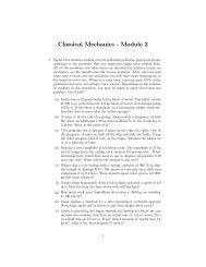 Classical Mechanics - Module 2
