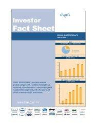 Fact Sheet - Dorel Industries