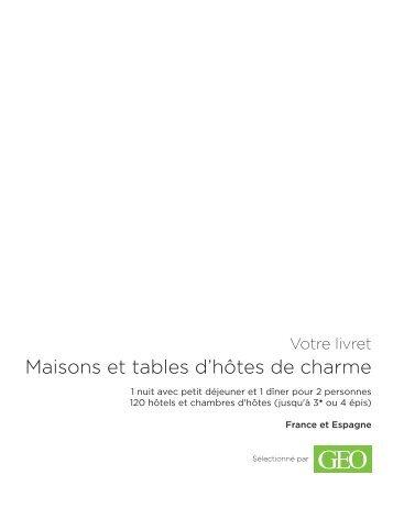 Maisons et tables d'hôtes de charme - E-Merchant