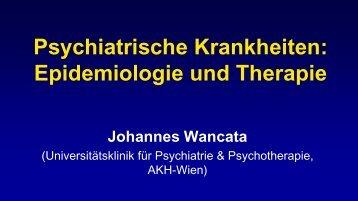 Vortrag Prof. Dr. Johannes Wancata - Vinzenz Gruppe