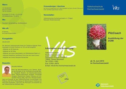 Programmflyer ( PDF - Download ) - Naturpark Südschwarzwald