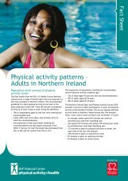 Adults in Northern Ireland - BHF National Centre - physical activity + ...