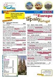 SPAIN ~ Barcelona, Zaragoza, Madrid, Toledo ... - Pearl Holidays