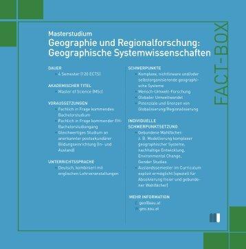 Info-Folder - Institut für Geographie und Regionalforschung ...