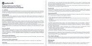 Product Information Guide Guida Informativa sul Prodotto ... - GoBandit