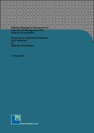 Habitats Regulations Assessment of Lake District Management Plan ...