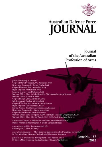 ISSUE 187 : Mar/Apr - 2012 - Australian Defence Force Journal