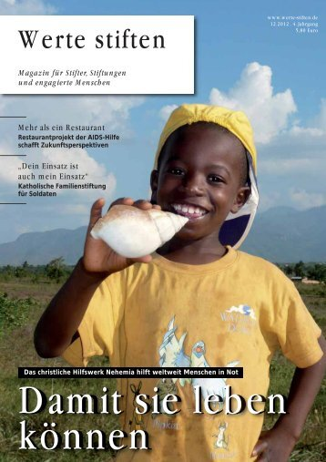 Das Werte stiften Interview: Transparenz im Stiftungswesen