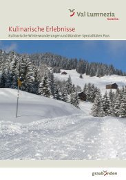 Broschüre Kulinarische Winter Wanderung - Surselva.info