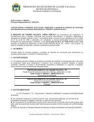 Edital Carta Convite 06/2013 Encontra-se aberta licitação na ...