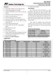 Data Sheet PT8A3514/15/16/17/18/19(A/B) Smart Iron ... - Pericom