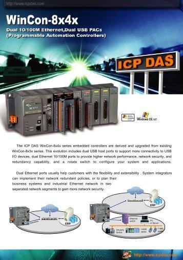 The WinCon-8x4x series PACs - ICP DAS