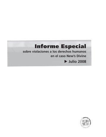 Informe Especial sobre violaciones a los derechos humanos en el