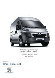 Boxer Euro5, 4x4 - Peugeot