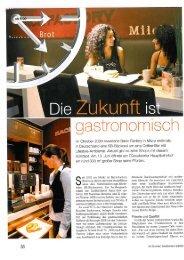 Die Zukunft ist gastronomisch - Back-Factory