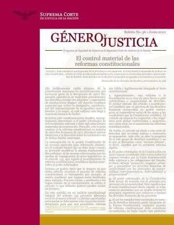 El control material de las reformas constitucionales - Programa de ...
