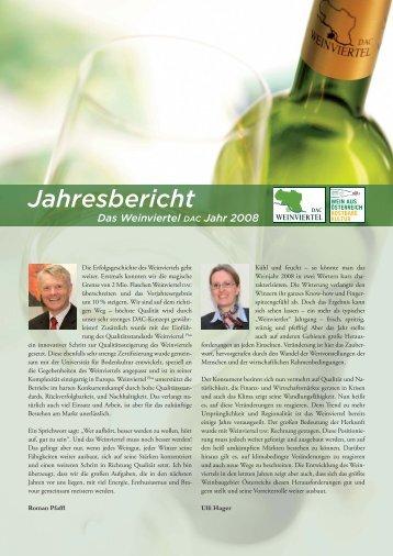 Jahresrueckblick_2008 [PDF/1135.14kB] - Weinviertel DAC