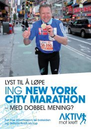 ING New York CitY MarathoN - Aktiv mot kreft