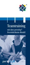 Teamtraining - Persolog GmbH