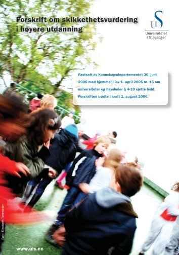 brosjyre om skikkethetsvurdering ved UiS