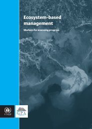 Ecosystem-based Management- Markers for assessing - UNEP