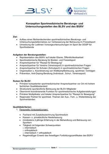 Konzeption Sportmedizinische Beratungs- und ...