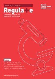 Regula+e - General Pharmaceutical Council