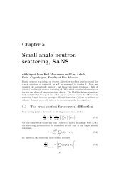 Small angle neutron scattering, SANS