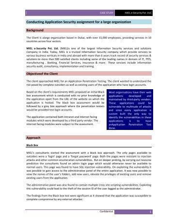 View - MIEL eSecurity Pvt. Ltd.