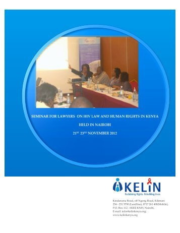 seminar for lawyers on hiv law and human rights in kenya - Kelin