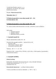 Metodický list č. 2 5) Makroekonomická rovnováha (model AD – AS ...