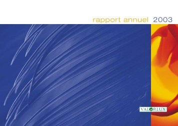 rapport annuel 2003 - valorlux.lu