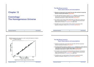 Chapter 12 Cosmology: The Homogeneous Universe