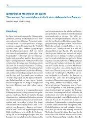Einführung: Methoden im Sport - Spitta